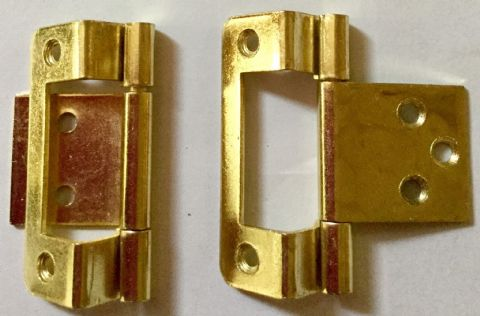10mm Brass Cranked Hinge (pair)